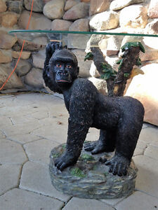 Decorative Gorilla Table with Glass top
