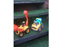 Lights and sounds ELC cement mixer and digger £10 for both
