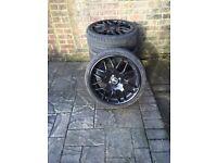 "RIVA 205 X 17"" Black Alloy Wheels £400 ONO"