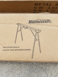 Brand new Mastercraft metal sawhorses