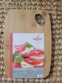 Breakfast bamboo cutting board