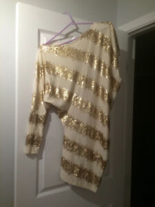 Gold dress for sale.