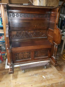 Reclaimed organ to DEACONS bench
