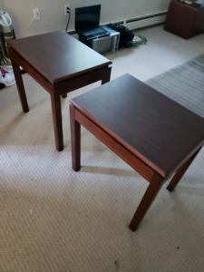 2 Burgandy End Tables