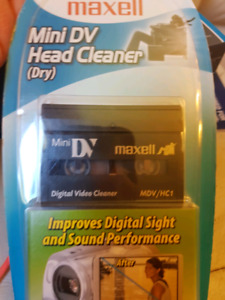 Mini DV head cleaner maxell sealed new