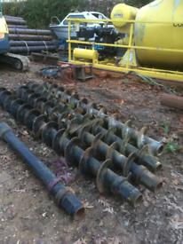 CFA piling augers excavator attachment