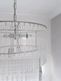Next crystal glass ceiling light