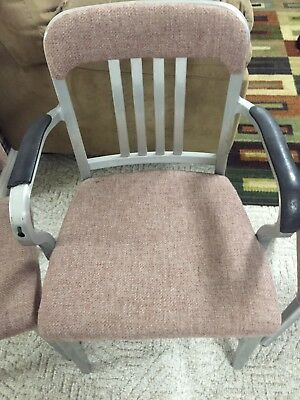 Set of 3 VTG Good Form Aluminum General Fireproofing Co. Chairs Nice!