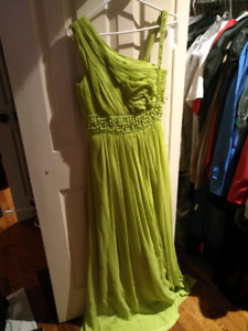 Lime Green Formal Dress size 8