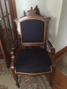 Victorian Eastlake armchair circa 1890 -Mahogany wood