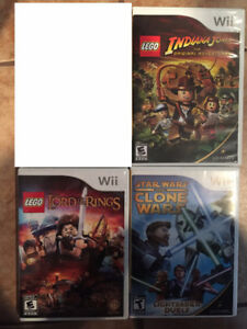 Jeu Wii Lego star wars clones lord of the rings indiana Jones  1