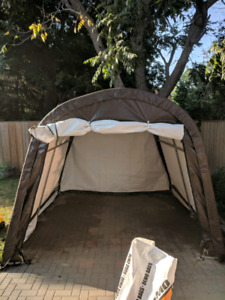 10x10 shed tent