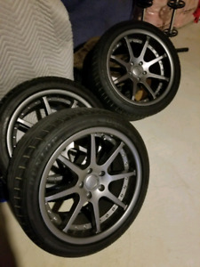 MINT Staggered BC Forged Wheels with SP Sport 01 Tires