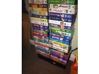 Huge pile of Disney VHS cassettes