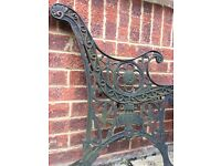 Cast iron beautiful bench ends