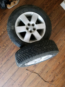 195 55 R15 winter tires with alloys