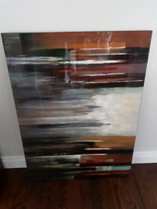 Abstract painting 36 x 48 (purchase at Urban barn)