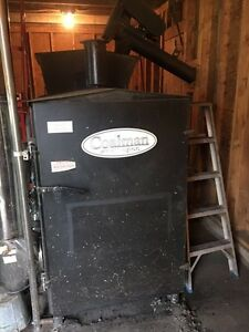 Coal burning furnace, bin, and building for sale