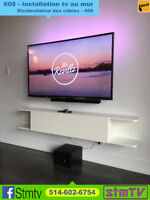 INSTALLATION TELEVISION 514-602-6754 tv support mural au mur