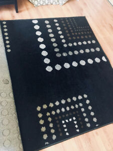 Black decorative rug
