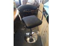 Chrome swivel bar stool