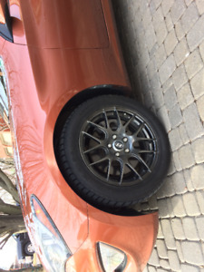 Hyundai Genesis Coupe Winter tires and Alloy Wheels