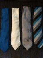 100% Silk Ties - Men's suit ties, four available