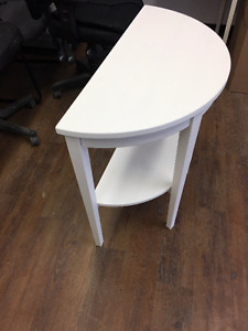 IKEA Arkelstorp white wooden corner table