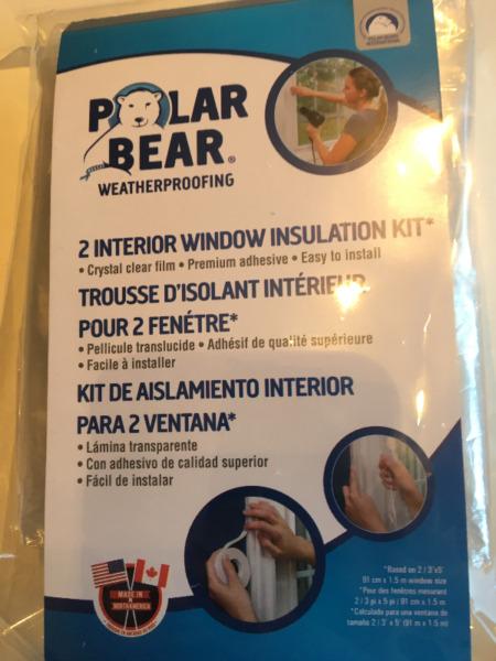Brand new interior window insulation kits