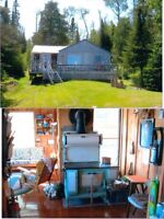 Chalet for sale.  Lake Kanasuta between Kirkland Lake