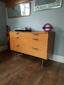 Stag Fineline Sideboard Chest of Drawers Vintage Retro MCM