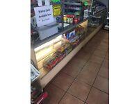 Retail sweet shop counter