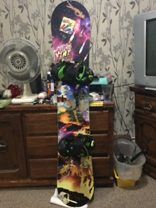 Simss vice snowboard with rossignol bindings