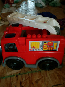 Big lot of mega blocks with fire truck
