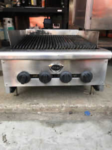 Natural Gas Commercial Restaurant BBQ Grill Wells 24x36