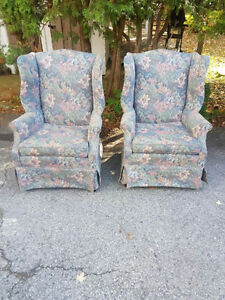 $250 for both!! Beautiful Wing Back Chairs in excellent shape!! London Ontario image 1