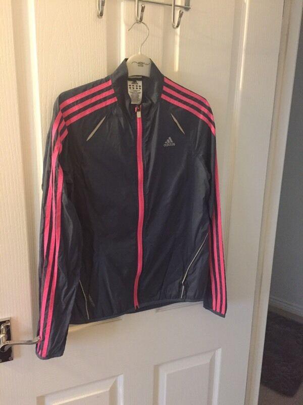 Adidas running jacketin Bonnyrigg, MidlothianGumtree - Ladies adidas running jacket. Size U.K. 12Blue with cerise pink detailing
