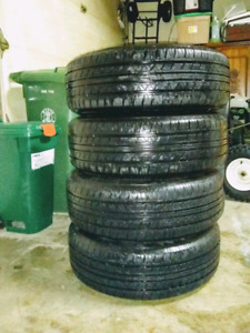 4 LIKE NEW FUZION TOURING ALL SEASON TIRES WITH RIMS (205/65R15)