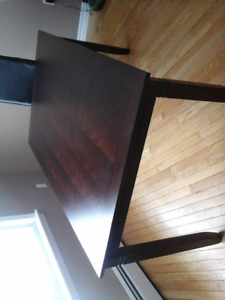Dining room table, $100