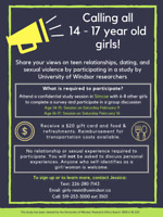 Recruiting young women (14-17 years old) for paid research study