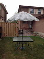 Patio Table & Umbrella with Base