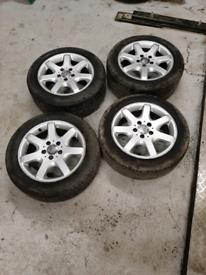 Mercedes 16 inch alloy wheels with good tread