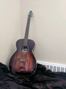 Brand new acoustic guitar with electric pick up
