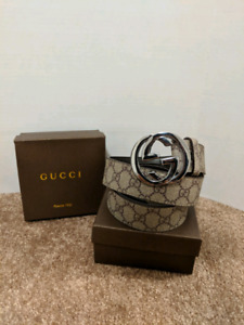Grey Gucci Belt