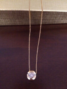 Stunning Diamond Solitaire Necklace
