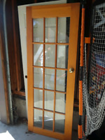 wooden frames glass door