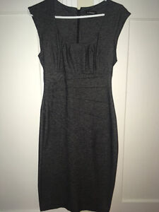 Grey Dress from Le Chateau- Made in Canada-Robe grise du Château