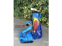 Junior golf clubs approx age 4-7 years