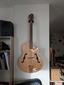 Canadian Made Boutique Gilmore Archtop Acoustic with Tusk Inlay!