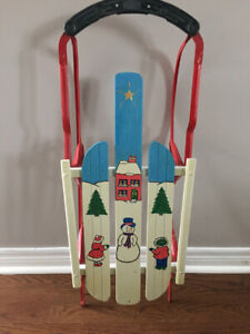Decorative Wooden Snow Sled